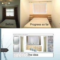 Narrow guest bedroom - need window dressing ideas.
