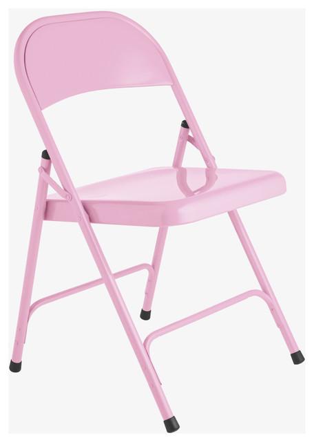 Macadam Bubblegum pink metal folding chair  HabitatUK