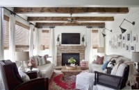 Modern Country Living Room - Eclectic - Living Room ...