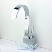 Modern Chrome Single Handle Kitchen Faucet - Contemporary ...