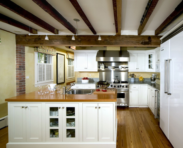 Crystal White Painted Inset traditional-kitchen