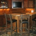 Bar styed as pub rustic basement cleveland by studio 76