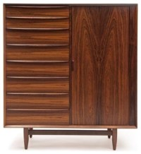 Vintage Danish Modern Armoire - Modern - Armoires And ...