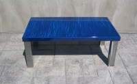 Modern Blue Coffee Table