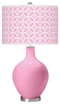 Pale Pink Circle Rings Ovo Table Lamp - Contemporary ...