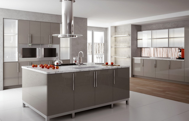 High Gloss Solid Surface Kitchen