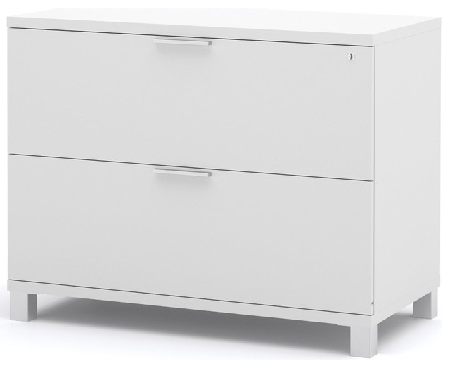 ProLinea Assembled Lateral File in White  Modern