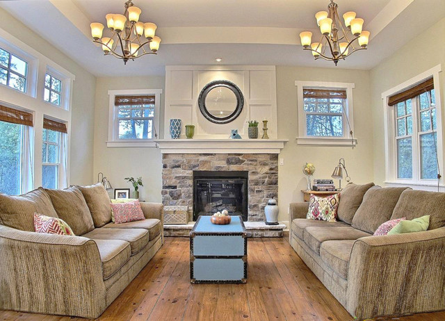 large decorative mirrors for living room cafe la jolla menu craftsman house interior - traditional ottawa