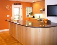 Orange Wall - Modern - Kitchen - boston - by CW Design, LLC