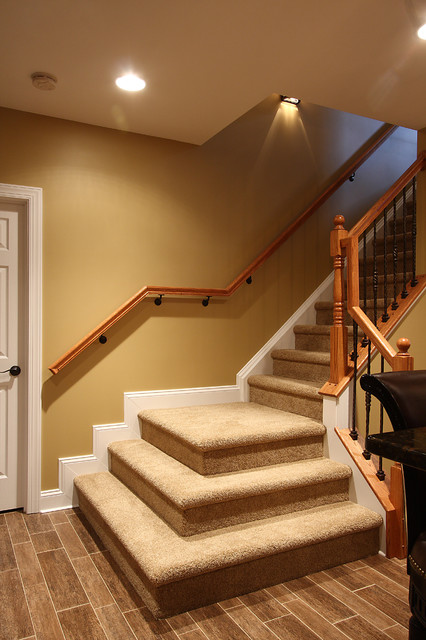Basement Stairs  Traditional  Staircase  Dc Metro By