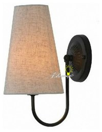 Antique Country Linen Shades Wall Sconce - Contemporary ...