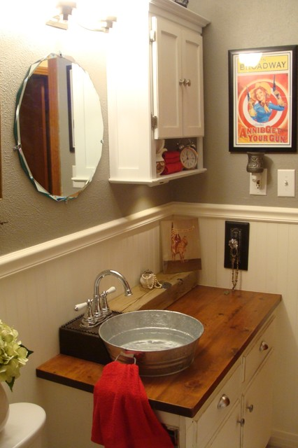 1930s Bungalow Bathroom  FarmhouseWestern Style  Craftsman  Bathroom  dallas