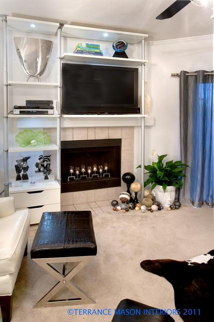 Modern Glam  Contemporary  Living Room  portland  by Terrance Mason Interiors