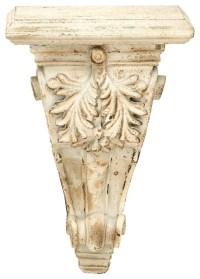 Victorian Wall Sconce Shelf Floral Carved Corbel