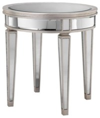 Round Mirror Accent Table - Eclectic - Side Tables And End ...