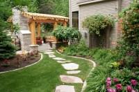 Backyard Pergola and Fireplace - Traditional - Landscape ...