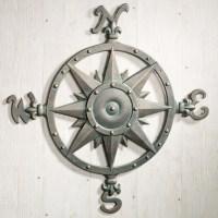 Indoor Outdoor Nautical Compass Metal Wall Art ...