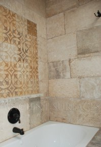 Antique Bathrooms Shower Walls and Decorative Carved Tiles ...