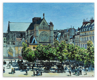 "Claude Monet ""St. Germain l'Auxerrois 1867"" Canvas Print, 30x34 traditional-fine-art-prints"