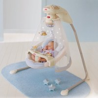 Fisher-Price Starlight Cradle Baby Swing - Contemporary ...