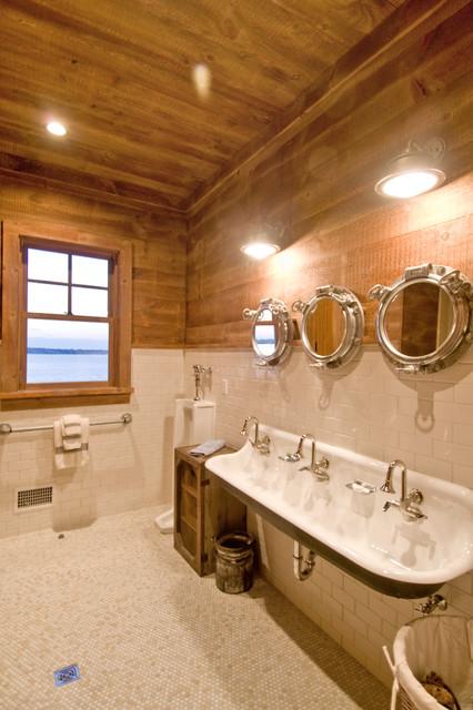 Rustic Industrial Bathroom  Rustic  Bathroom  new york