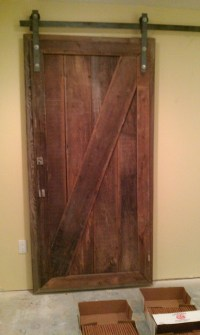 Barnwood Sliding Doors for Basement Project
