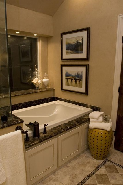 Small but Quaint Master Bath  Traditional  Bathroom  dallas  by Hilsabeck Design Associates