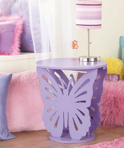 Purple Butterfly Table, Kids Bed Room, Girls Cute Table