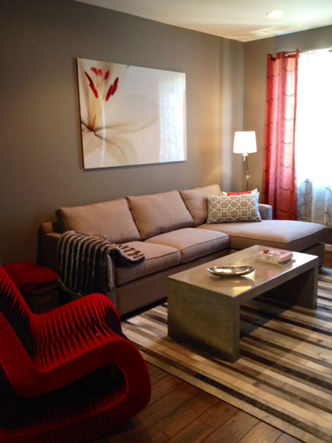 Small Budget Town Home :: Living Room - Modern - Living ...