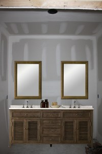 One large mirror or two individual mirrors over double vanity?