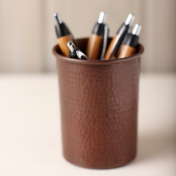 Handmade Copper Pen Holder by Native Trails  Traditional