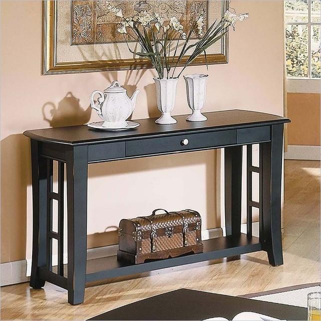 steve silver dylan sofa table castle company cassidy black ...