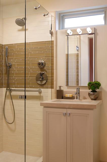 San Francisco Small Bathroom Renovation  Transitional