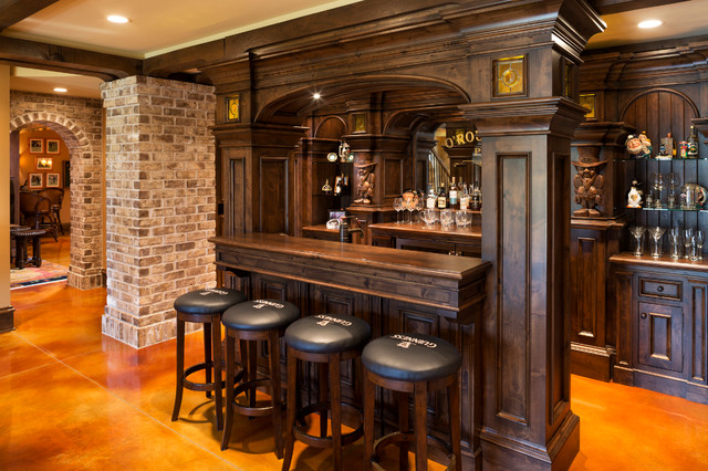Elegant English Country Home  Traditional  Home Bar  minneapolis  by Kyle Hunt  Partners