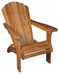 Adirondack Chair Solid Teak - Contemporary - Adirondack ...
