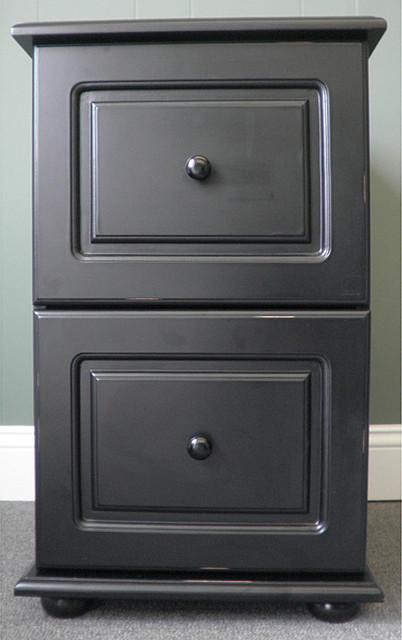 kitchen cabinets overstock menards sinks black wood distressed two-drawer file cabinet ...
