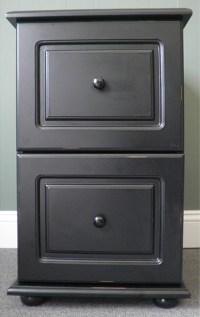Black wood distressed 2 drawer file cabinet 104.39 @overstock