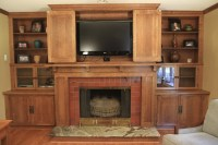 Custom Woodworking - Fireplace Mantel with Bookcases and ...