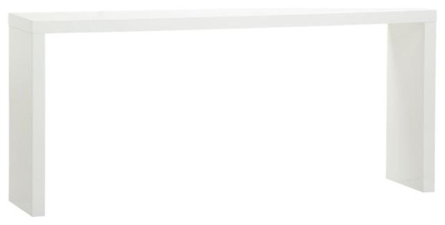 Fresca White Console Table