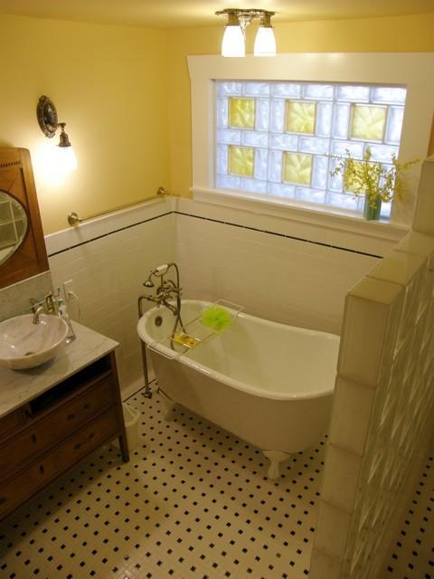 Glass Block Bathroom Windows  Traditional  Bathroom