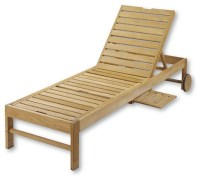 Teak Chaise Chair - Traditional - Outdoor Chaise Lounges ...