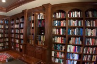 Cherry library bookcases - Traditional - Living Room ...