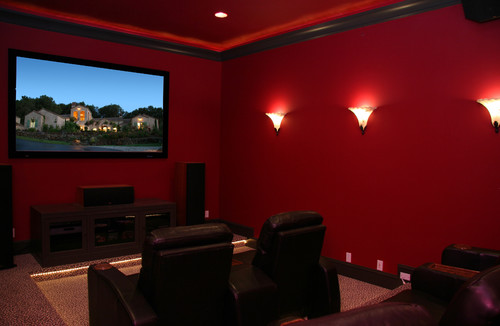 What is the best wall color for a media room?
