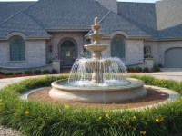 Large Estate Fountain - Mediterranean - Landscape ...