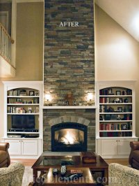Faux Stone Fireplace Design Ideas, Pictures, Remodel and Decor