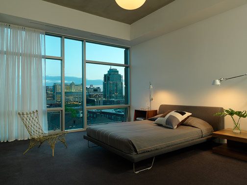 High rise apartment  Modern  Bedroom  st louis  by