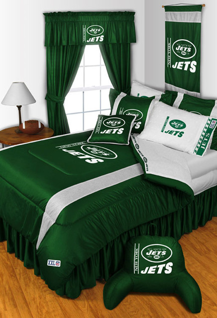 cowboy living room ideas small open plan decorating nfl new york jets bedding and decorations - modern ...