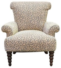 Pre-owned Leopard Print Rolled Back Arm Chair - Eclectic ...