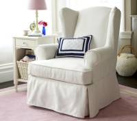 Slipcovered Wingback Glider - Rocking Chairs - other metro ...