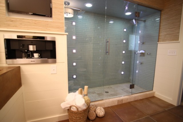 Modern Cottage Bath Modern Bathroom Other Metro By